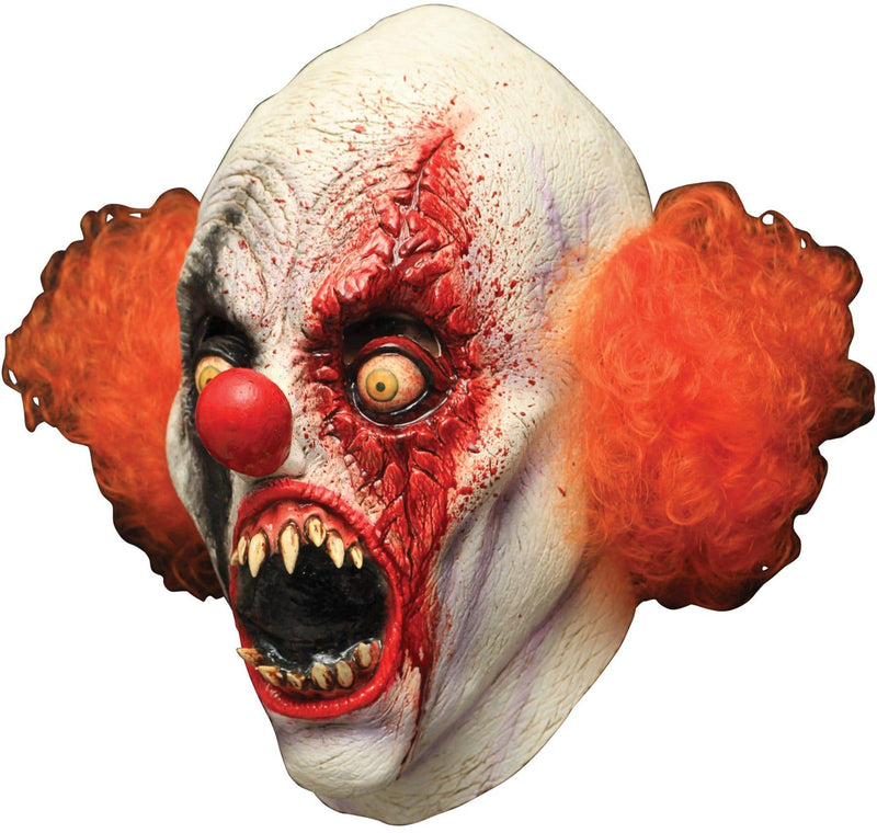 Ghoulish Productions Creepy Clown Theme Halloween Latex Mask - Costume Arena