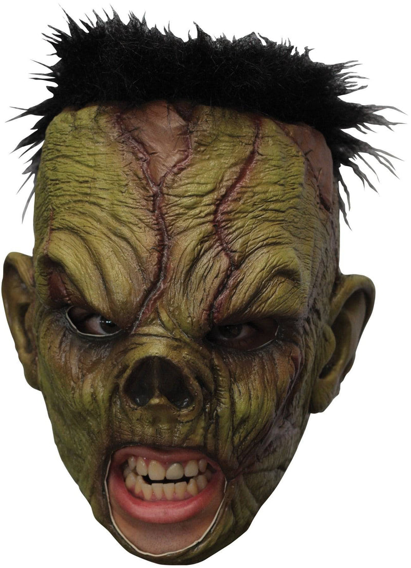 Ghoulish Productions Deluxe Monster Chinless Latex Humorous Mask - Costume Arena