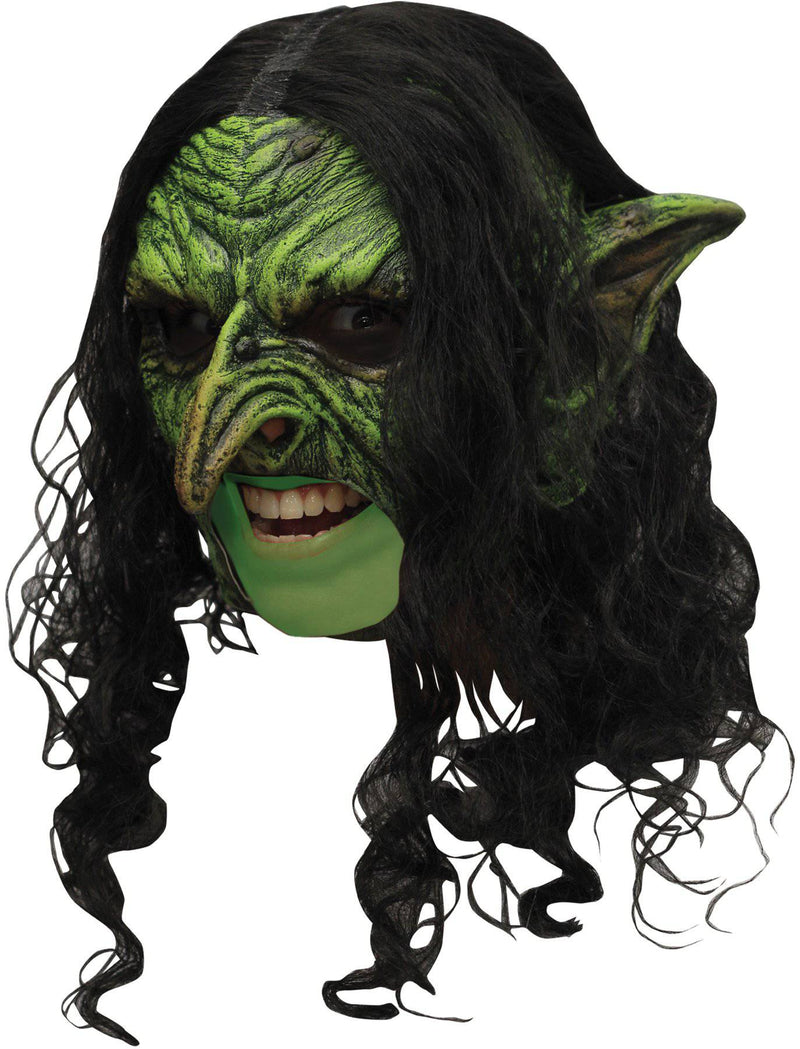 Ghoulish Productions Deluxe Wicked Chinless Theme Humorous Mask - Costume Arena