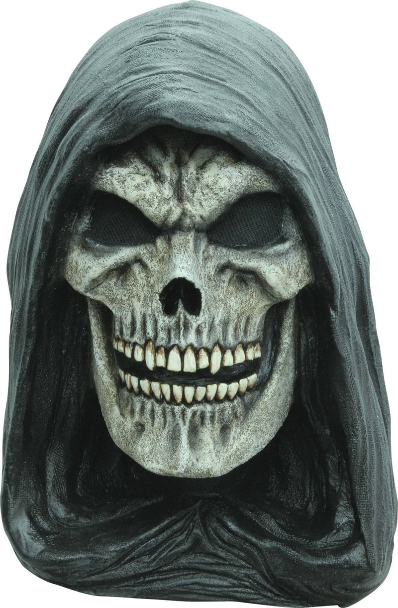 Ghoulish Productions Grim Reaper Horror Theme Party Latex Mask - Costume Arena