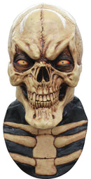 Ghoulish Productions Grinning Skull Theme Halloween Latex Mask - Costume Arena