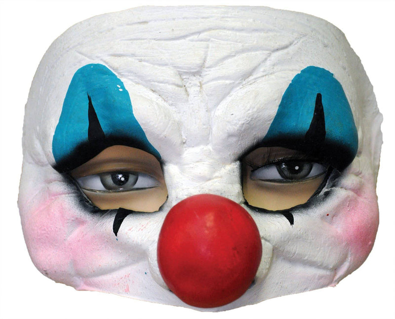 Ghoulish Productions Happy Clown Horror Movie Theme Half Mask - Costume Arena