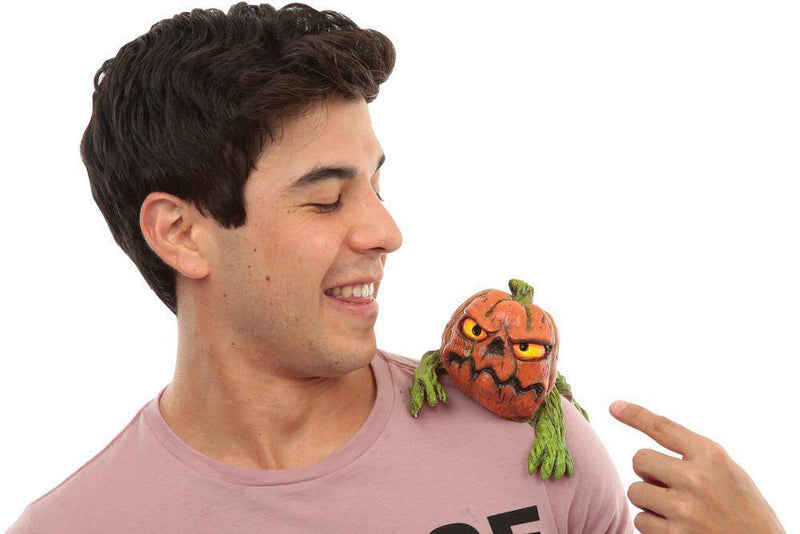 Ghoulish Productions Pumpkin Shoulder Buddy Comical Accessory - Costume Arena