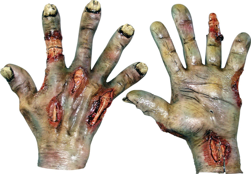 Ghoulish Productions Rotted Zombie Latex Hands Horror Accessory - Costume Arena