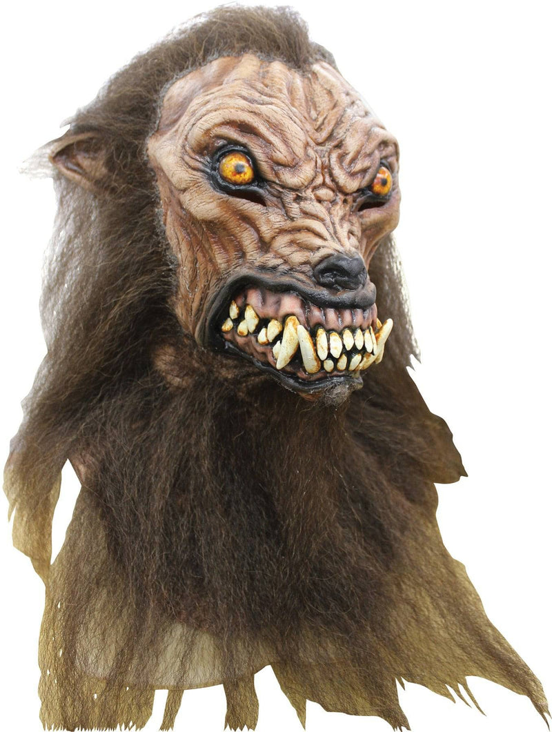 Ghoulish Productions Scary Wolfhound Horror Halloween Latex Mask - Costume Arena