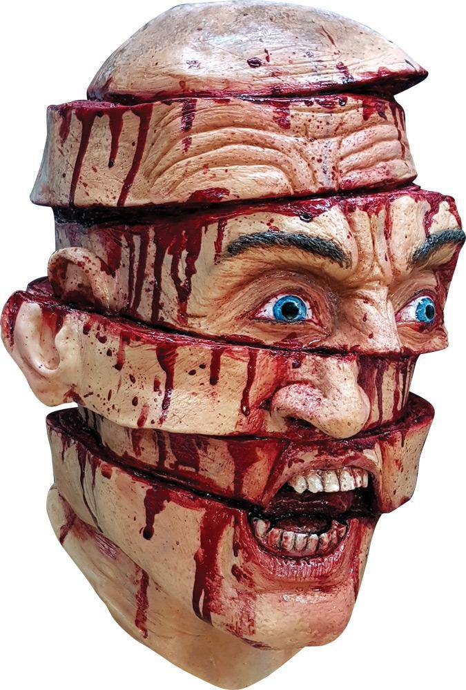 Ghoulish Productions Sliced Face Horror Creepy Theme Party Mask - Costume Arena