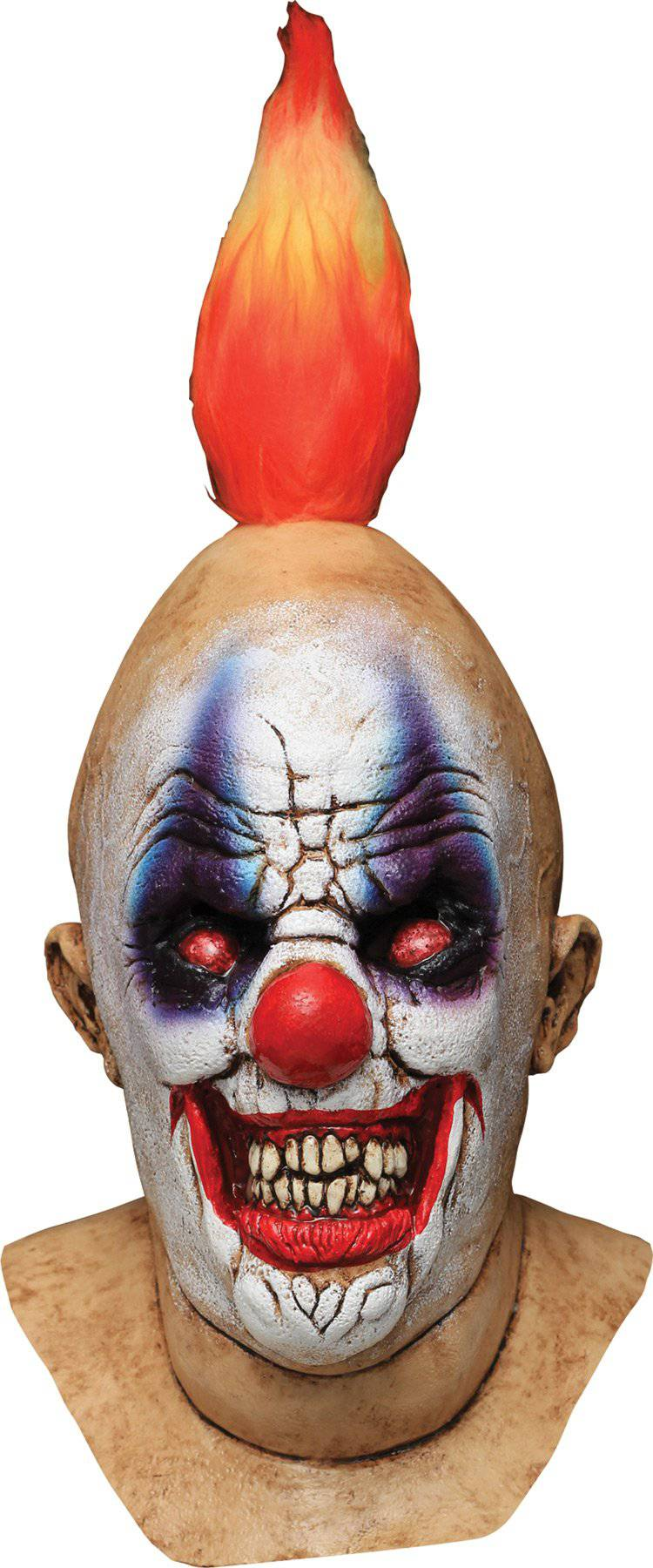 Ghoulish Productions Squancho The Clown Halloween Latex Mask - Costume Arena