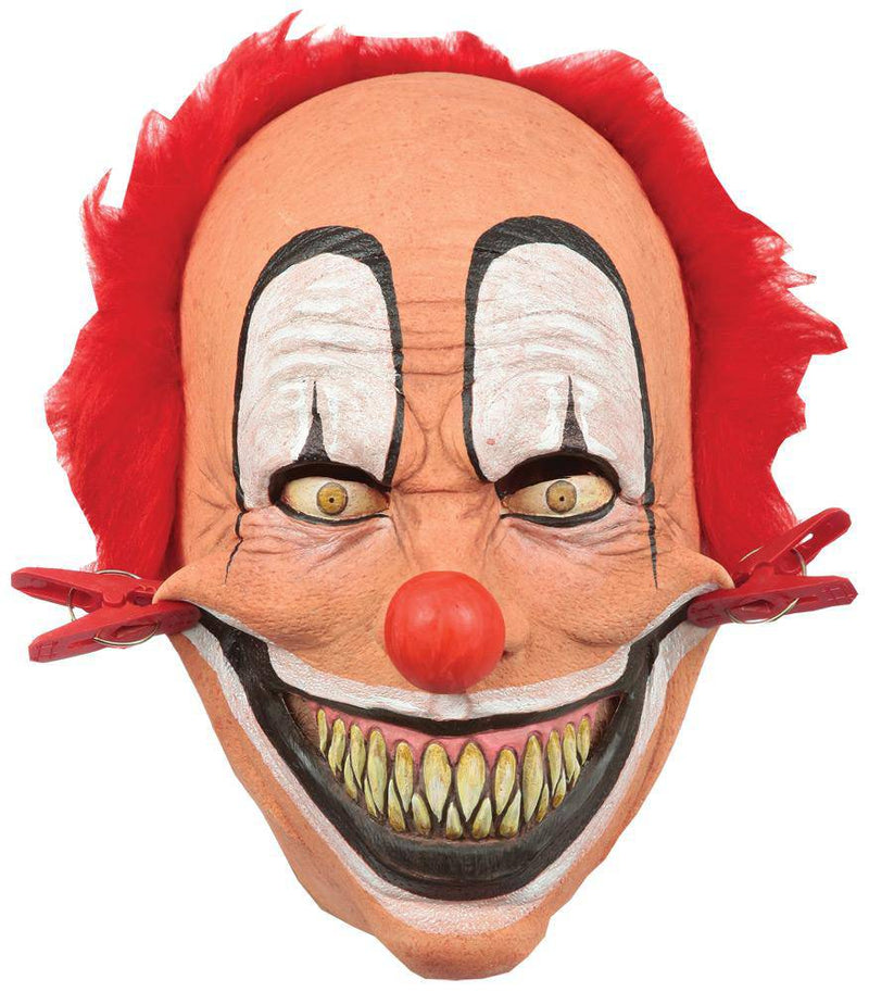 Ghoulish Productions Tweezer Clown Horror Movie Halloween Mask - Costume Arena