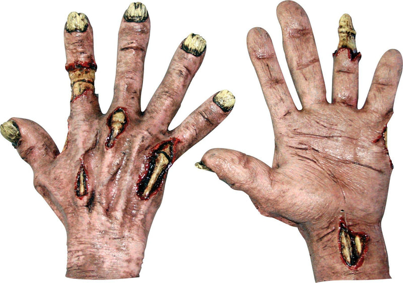 Ghoulish Productions Zombie Flesh Latex Hands Horror Accessory - Costume Arena