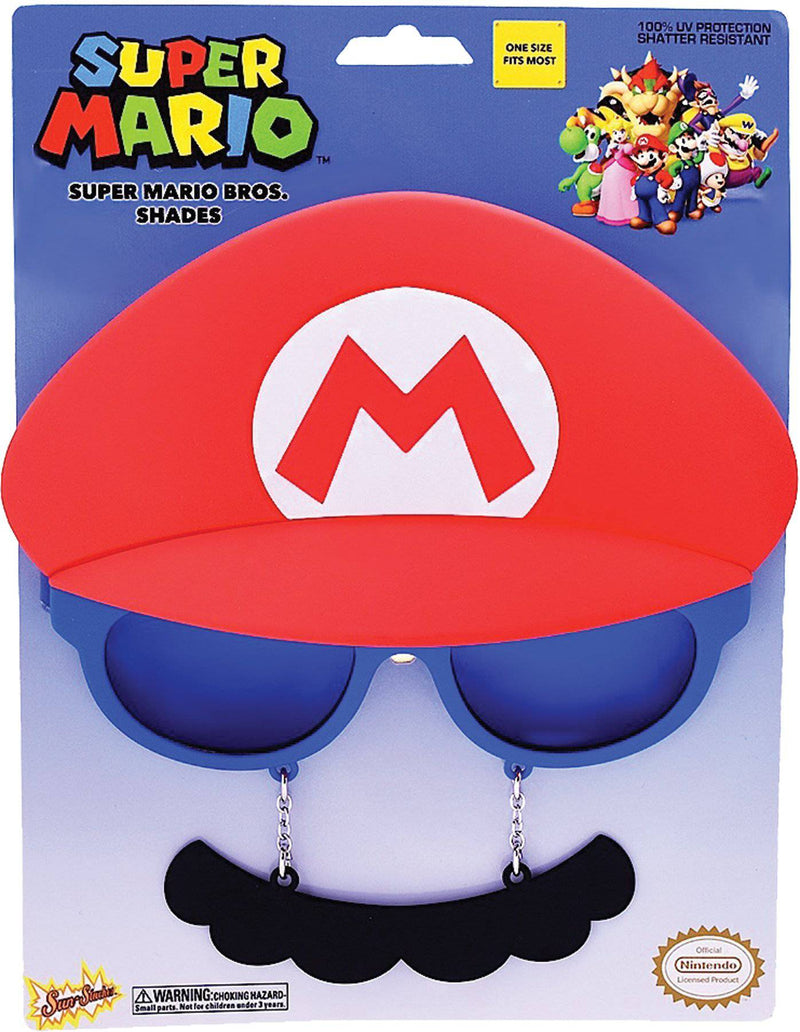 H2W Men's Super Mario Eyewear Costume Accesorry - Costume Arena
