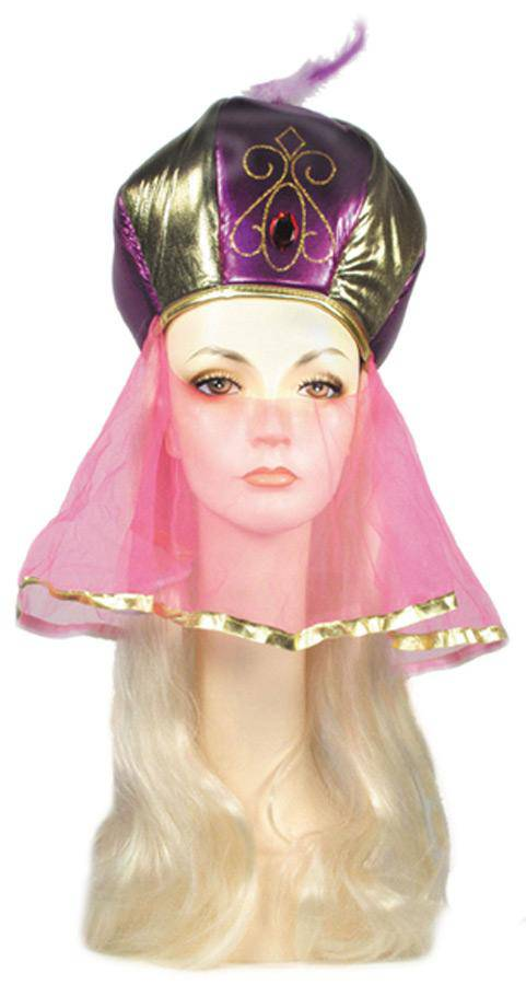 Lacey Wigs Arabian Princess Hat with Hair Accessory Wig - Costume Arena