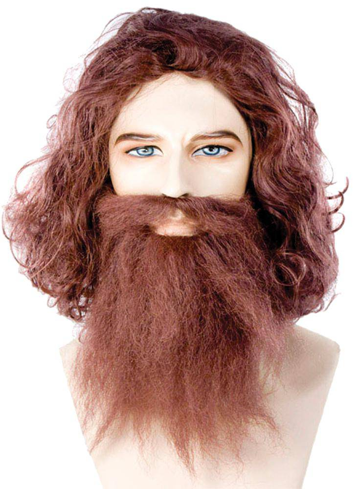 Lacey Wigs Men's Cave Man Guy Theme Party Accessory Wig - Costume Arena