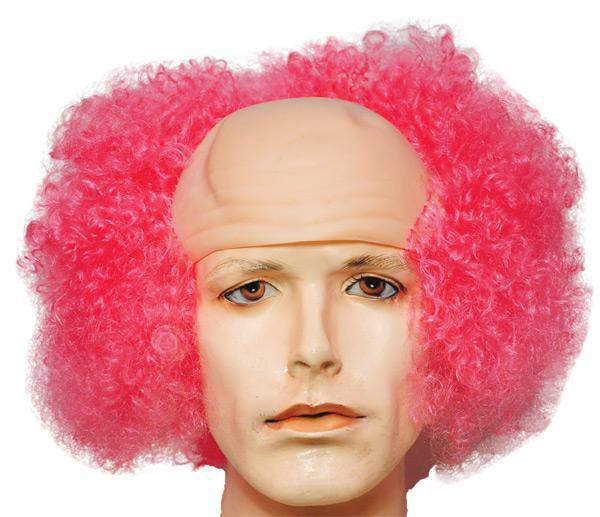 Lacey Wigs Men's Curly Bald Clown Theme Accessory Wig - Costume Arena