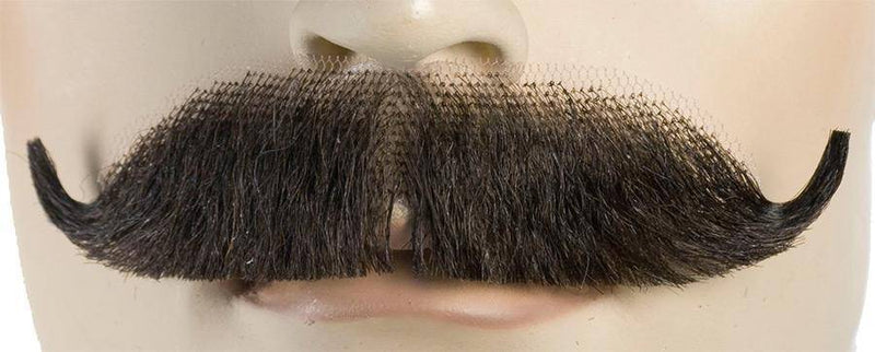 Lacey Wigs Men's Edwardian M35 Mustache-Human Hair Wig - Costume Arena