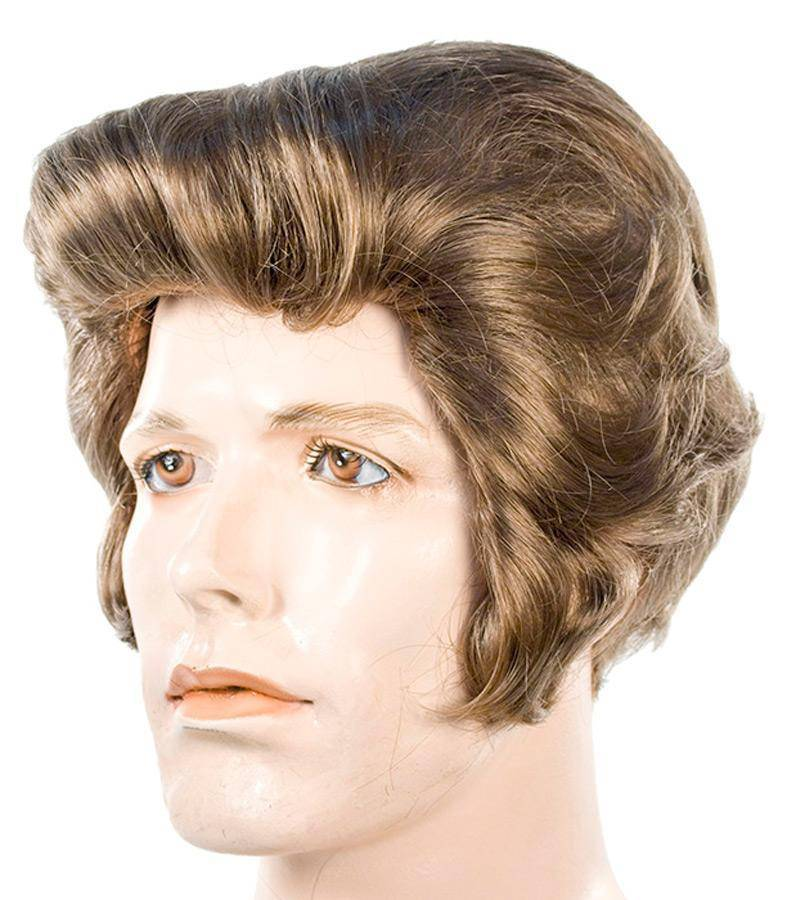 Lacey Wigs Men's J Dean Synthetic Fiber Accessory Wig - Costume Arena