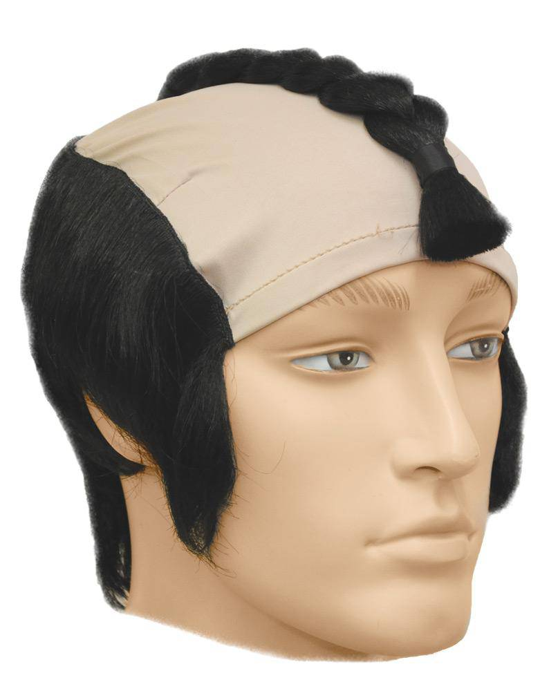 Lacey Wigs Men's Japanese Warrior Theme Accessory Wig - Costume Arena