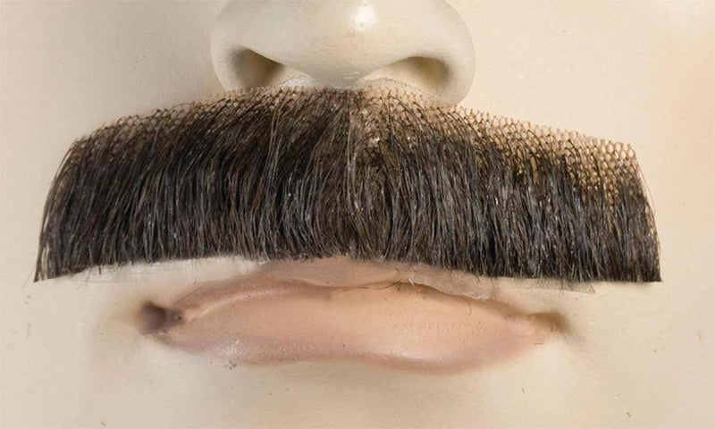 Lacey Wigs Men's Natural Looking Mustache Accessory Wig - Costume Arena