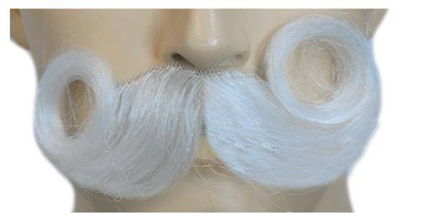 Lacey Wigs Men's Real Looking Santa Mustache Accessory - Costume Arena