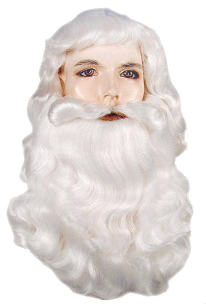 Lacey Wigs Men's Santa Bargain Wig and Beard Accessory - Costume Arena