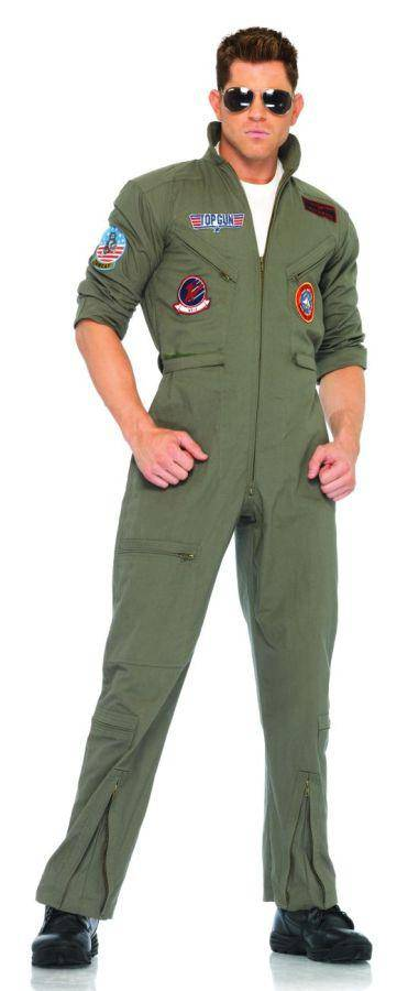 Leg Avenue Men's Top Gun Flight Suit Adult Costume - Costume Arena