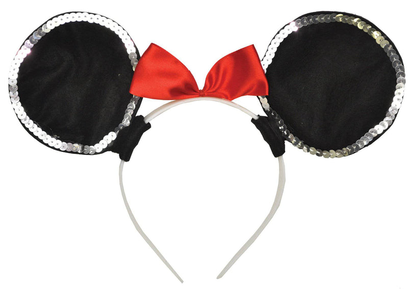 Morris Costumes Deluxe Mouse Ears Headband Party Accessory - Costume Arena