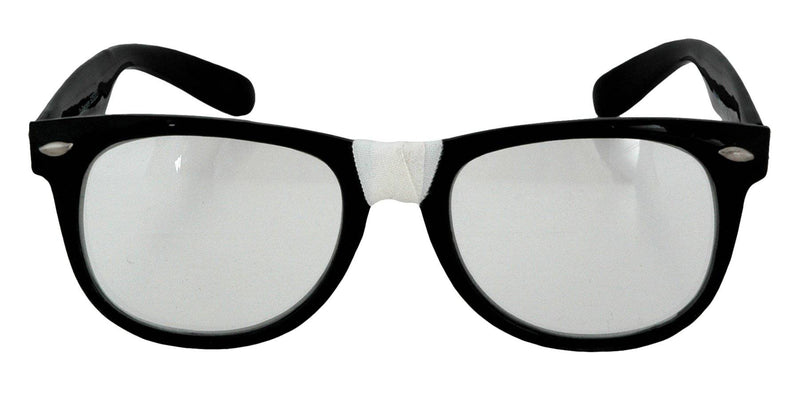 Morris Costumes Great 50s Nerd Black Frame Glasses Accessory - Costume Arena