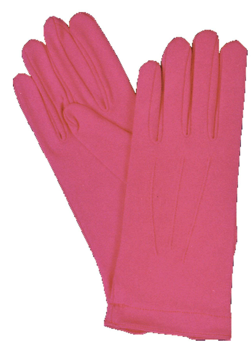 Morris Costumes Hot Pink Nylon Gloves W Snap Fancy Accessory - Costume Arena
