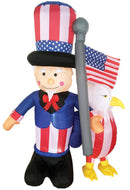 Morris Costumes Inflatable Uncle Sam Eagle Yard Decoration - Costume Arena