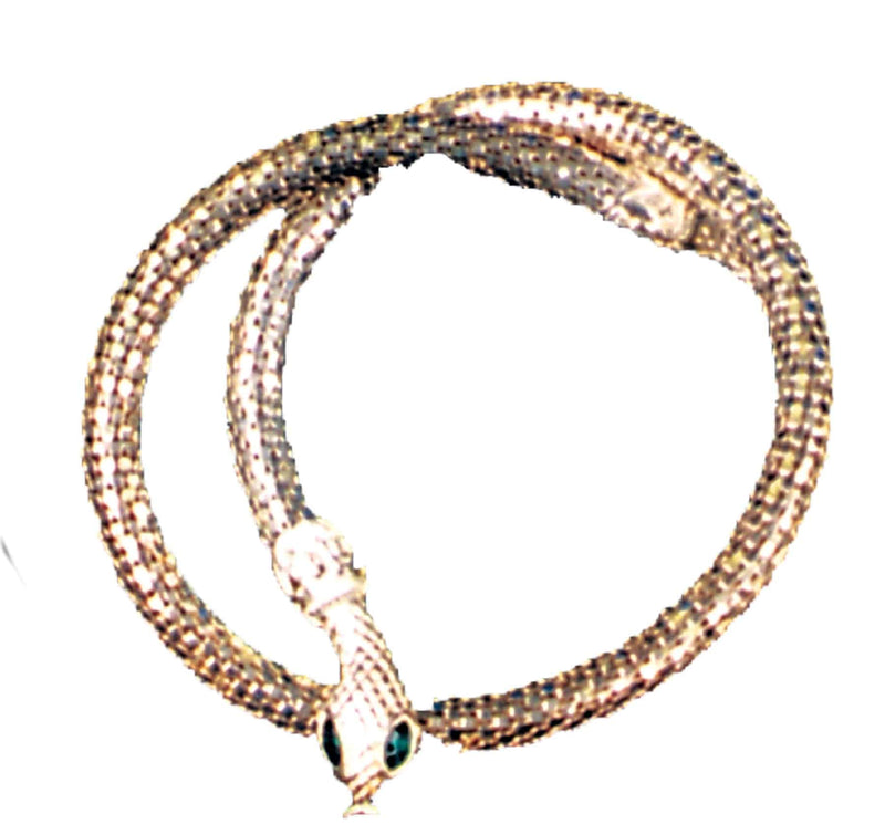 Morris Costumes Necklace Snake Silver Cleopatra Accessory - Costume Arena