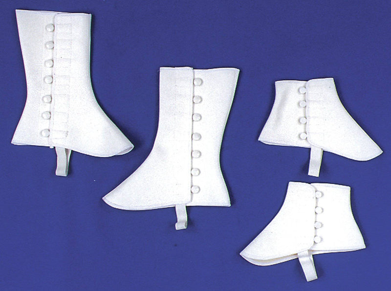 Morris Costumes Short White Vinyl Spats Shoecover Accessory - Costume Arena