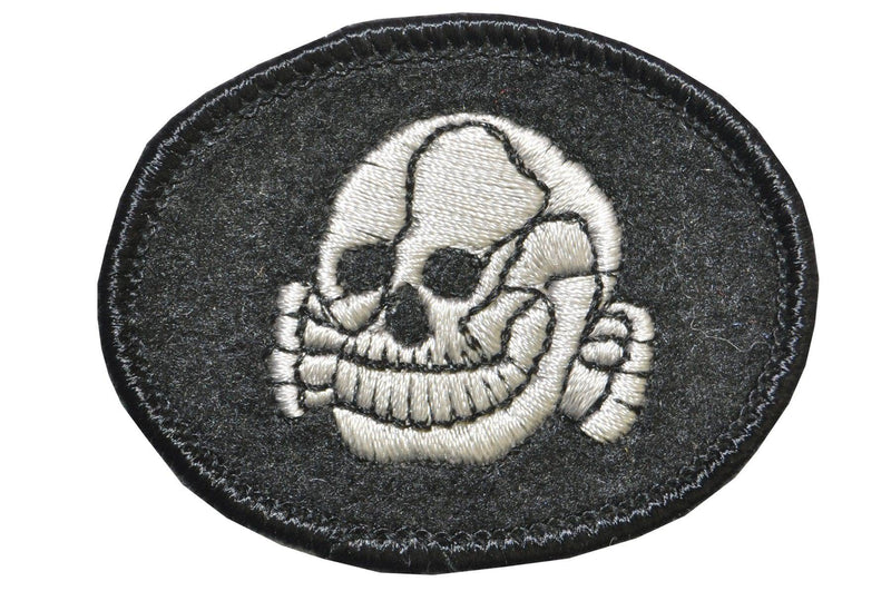 Morris Costumes Skull Patch Scary Theme Officer Accessory - Costume Arena