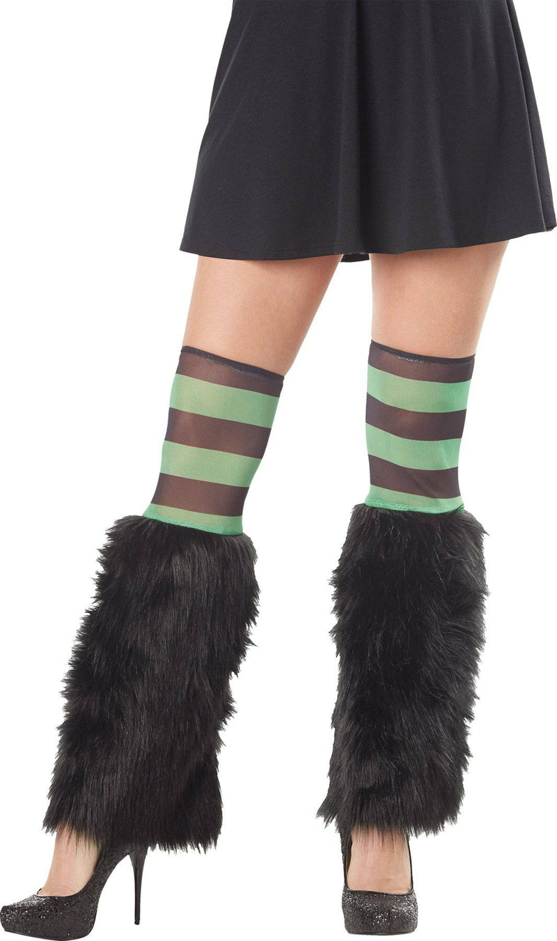 Morris Costumes Women's Furry Leg Warmers Witch Accessory - Costume Arena