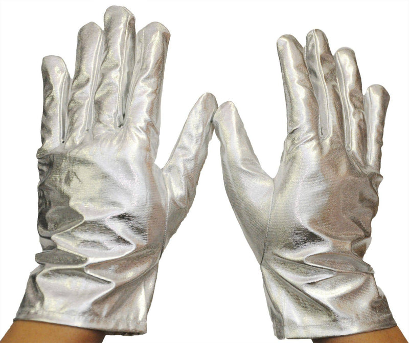 Morris Costumes Wrist Length Metallic Gloves Adult Accessory - Costume Arena