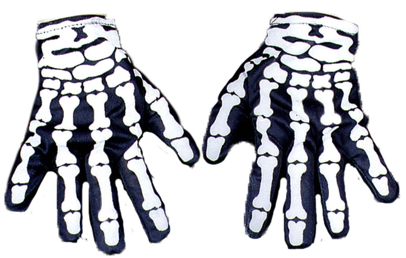 Morris Costumes Wrist Length Nylon Gloves Skeleton Accessory - Costume Arena