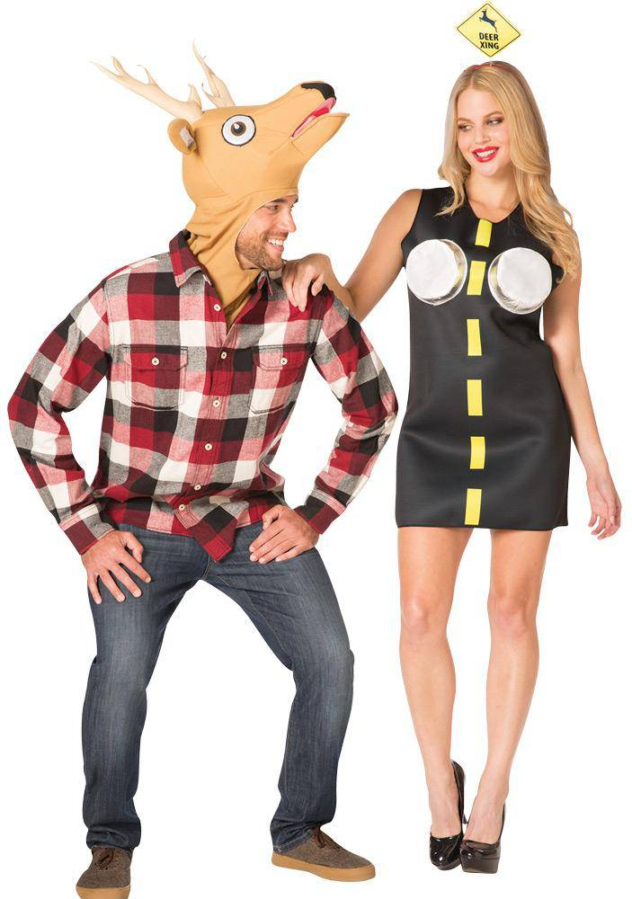Rasta Imposta Adult Deer In Headlights Couple Costume - Costume Arena