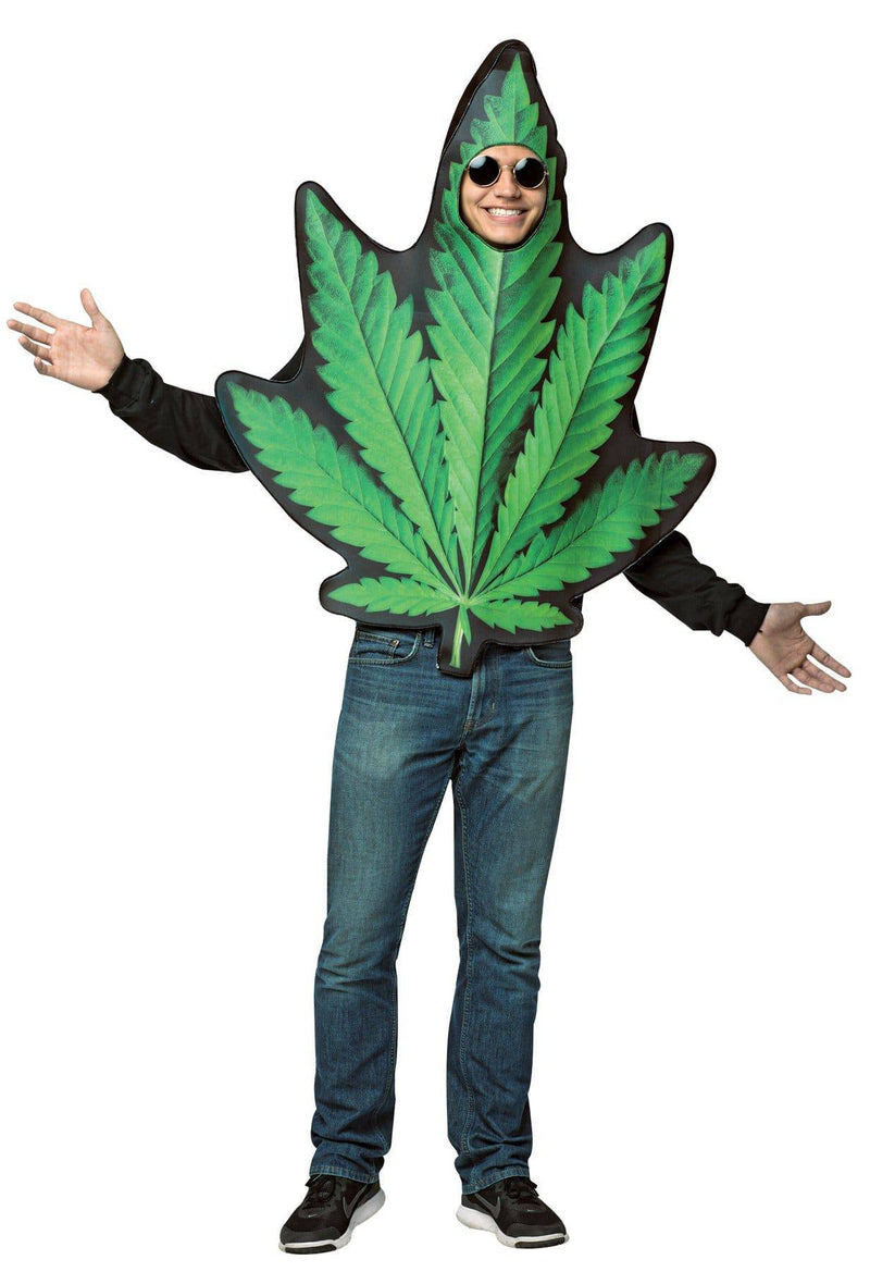 Rasta Imposta Men's Funny Theme Party Pot Leaf Costume - Costume Arena