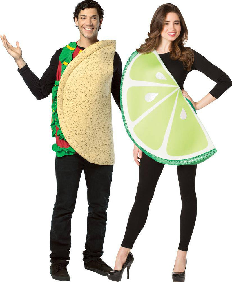 Rasta Imposta Taco And Lime Slice Couples Adult Costume - Costume Arena