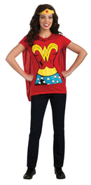 Rubie's Women's Sexy Wonder woman T-shirt Costume - Costume Arena