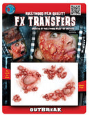 Tinsley Transfers Outbreak 3D Prof Tattoo Gothic Accessory - Costume Arena