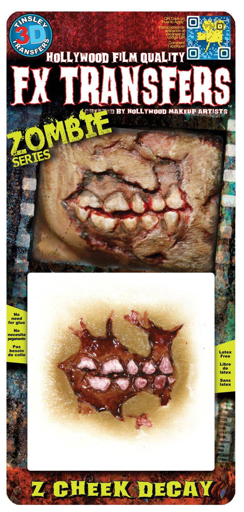 Tinsley Transfers Zombie Cheek Decay Sm 3D Fx Theme Accessory - Costume Arena