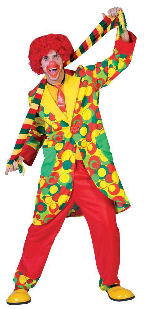 Tropical Sun Men's Bubble-Up Carnival Clown Party Costume - Costume Arena