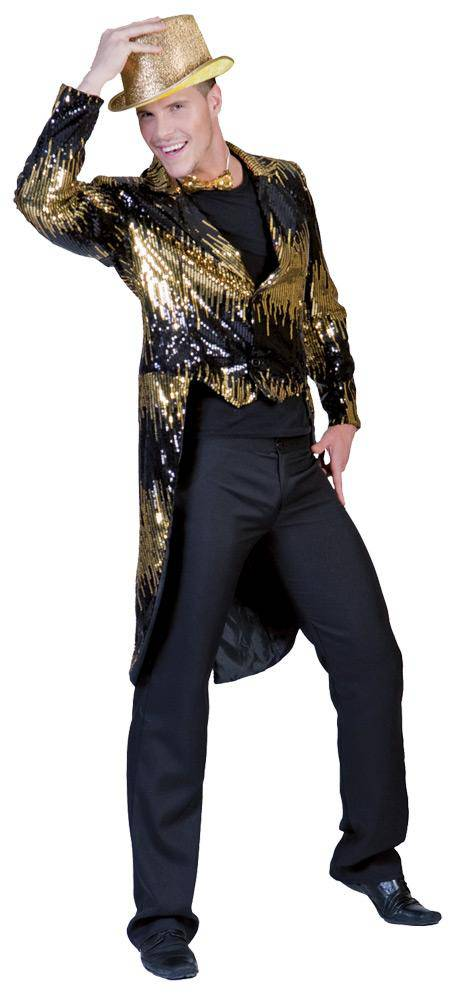 Tropical Sun Men's Glitter Tailcoat Funny Party Costume - Costume Arena
