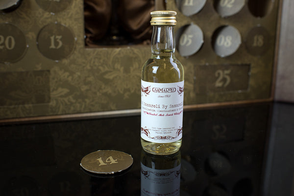 The Scotch Whisky Advent Calendar door number 14 Samaroli Glenallachie Glentauchers and Macduff