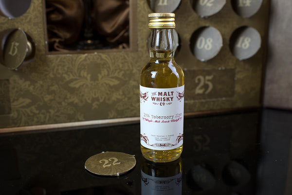 The Scotch Whisky Advent Calendar door number 22 Tobermory 21yo The Malt Whisky Co
