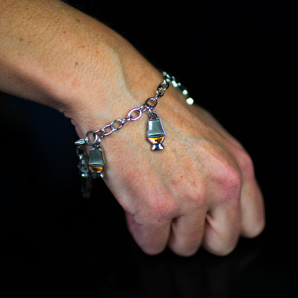Glencairn Whisky Glass Charm Bracelet available to buy online now.