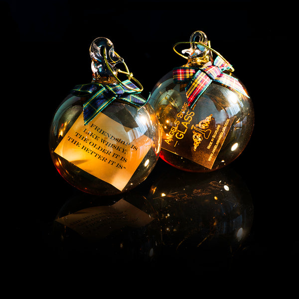 Whisky Quote Baubles by Angels Share Glass