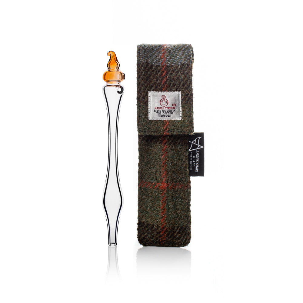 Pocket Whisky Water Dropper in Harris Tweed Case