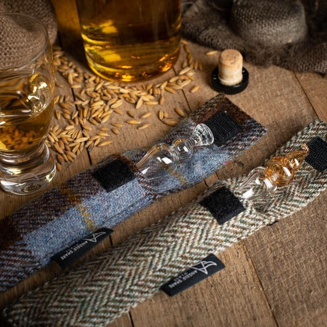 Harris Tweed Pocket Whisky Water Droppers