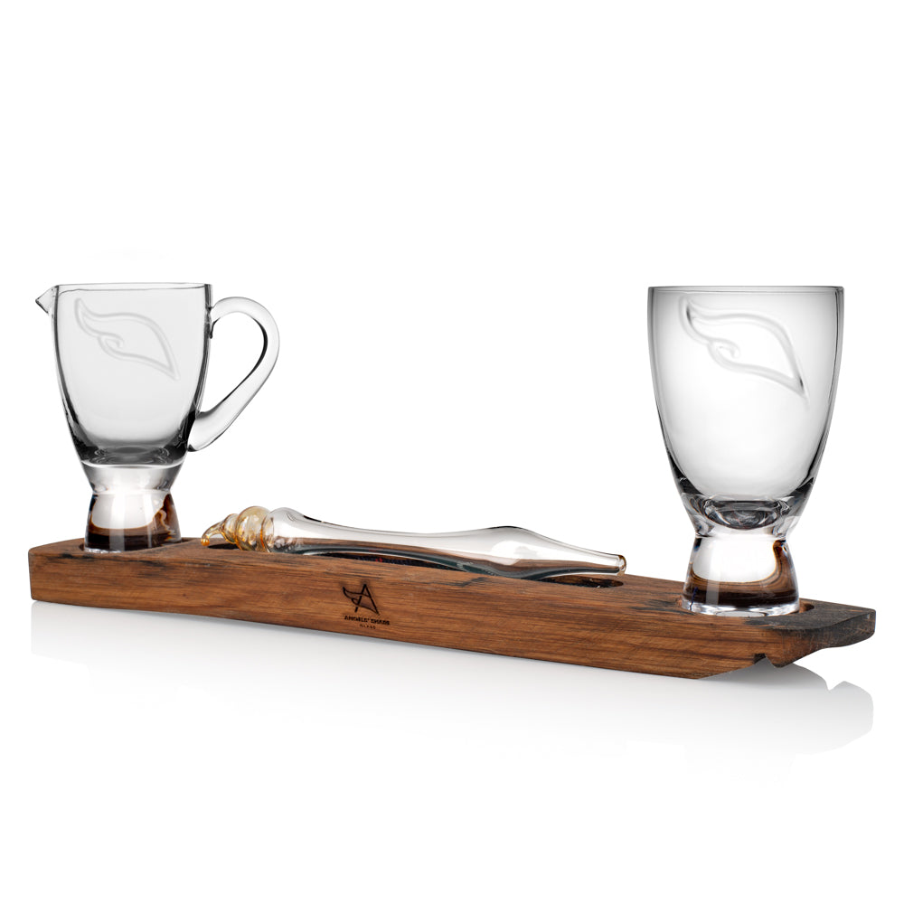 Dual Tasting Set with Whisky Water Dropper and Angels' Share Glass Water Jug