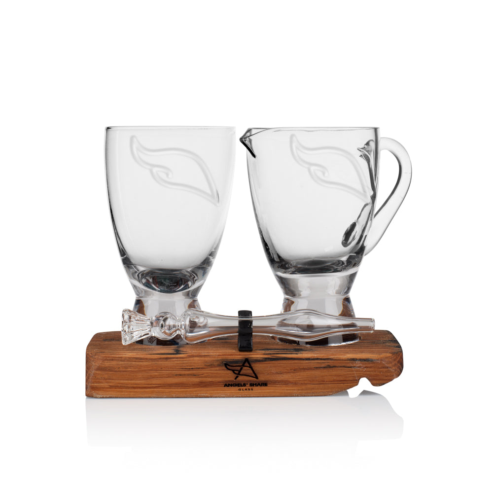 Twin Set - Angels' Share Glass Water Jug & Mini Whisky Water Dropper